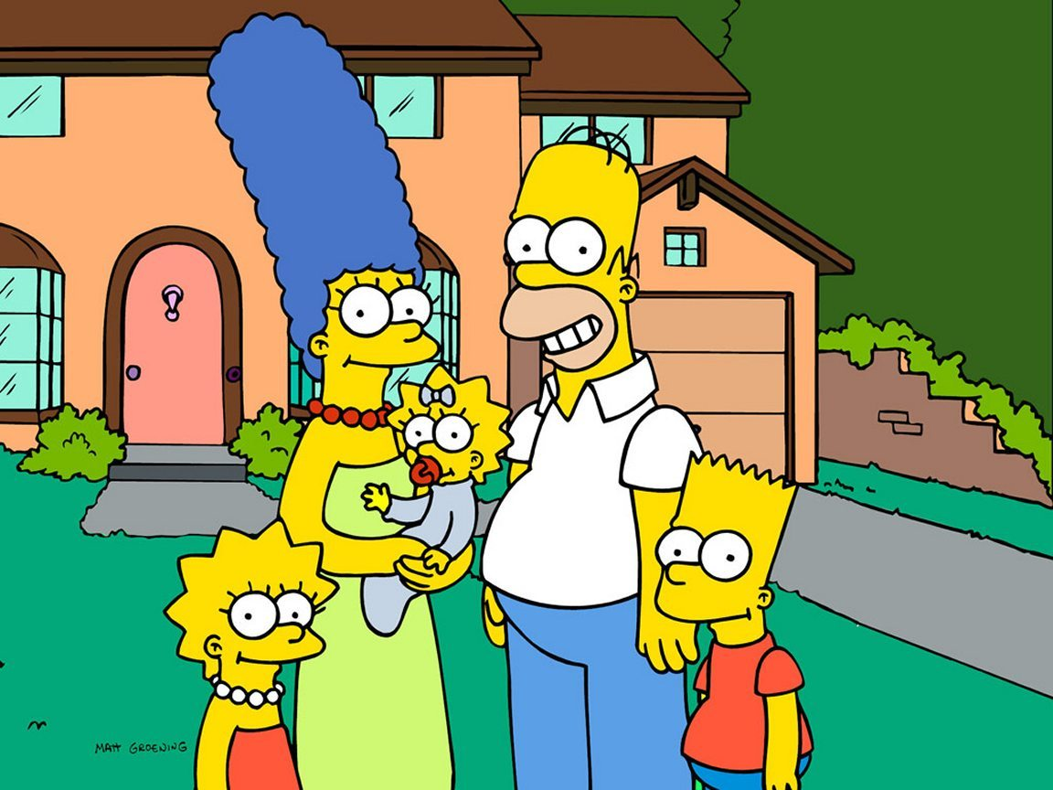 Simpsons family portrait