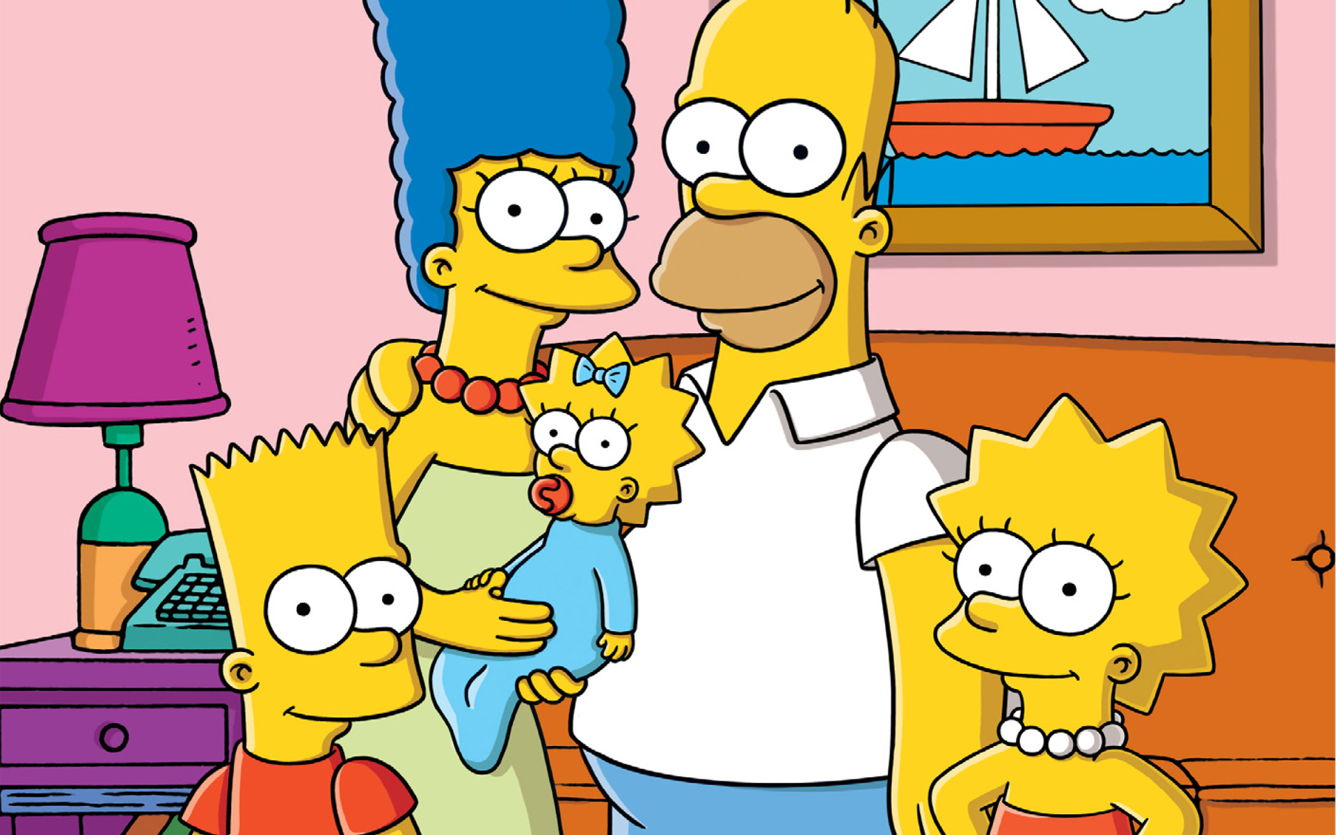 The Simpsons Family Wallpaper